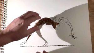 Eine Teetasse wird zum Elefanten – so macht man mit Schatten Kunst