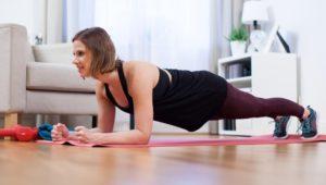 Wie Sie zuhause mit einfachen Übungen fit werden